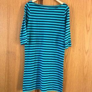 Lilly Pulitzer teal/navy knit T-shirt midi dress M